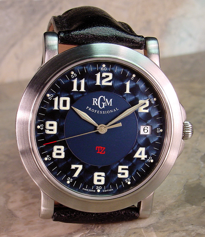 Custom-modified prototype blue dial - Photo by SteveG